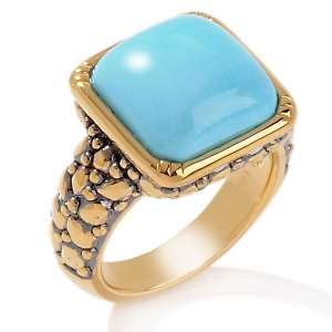 Sleeping Beauty Turquoise 14K Cobblestone Ring