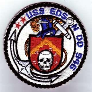 USS EDSON, DD 946   U.S. NAVY SHIP PATCH