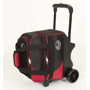 Deluxe Single Ball Roller Bowling Bag  Black/Red