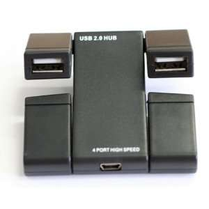 USB 2.0 Hi Speed Ultra Slim 4 Port Self Powered Mini HUB
