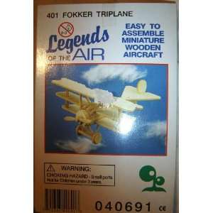 Fokker Triplane (Miniature Wooden Model Aircraft Kit) Everything Else