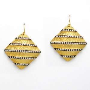 14karat gold plated sterling silver vintage earrings with
