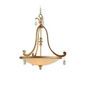 Light 33 Antique Roman Silver Energy Star Pendant with Cream