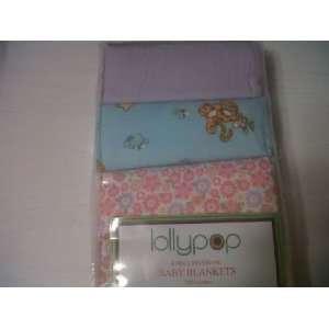 Baby Girl Purple Pink Aqua Winnie the Pooh Tigger Flower Flannel Baby