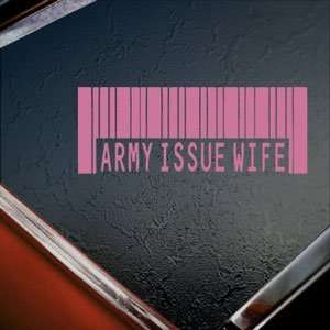 Army Issue Wife US Military Pink Decal Window Pink Sticker