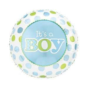 Polka Dots Its A Boy Design 18 Mylar Foil Baby Shower Party Balloon