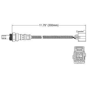 Walker 250 24667 Four Wire Oxygen Sensor Automotive