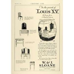 1927 Ad W. J. Sloane Louis XV Period Home Bedroom