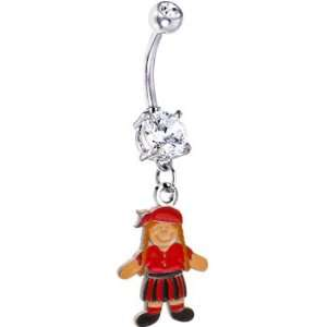 Colorful Girl Pirate Belly Ring: Jewelry