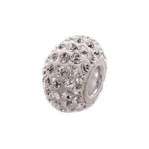 April Birthstone Swarovski Crystal Pave 925 Sterling Silver Bead Charm