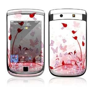 BlackBerry Torch 9800 Decal Skin   Pink Butterfly Fantasy