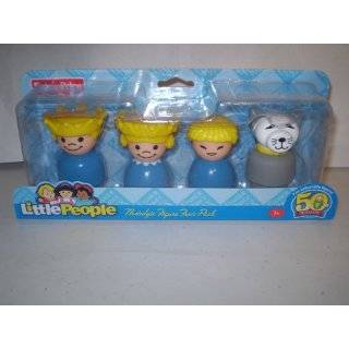 Little People Nostalgic Figure Four Pack with Husband, Wife, Fireman