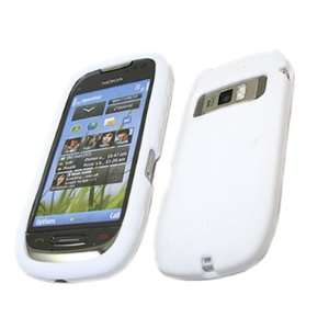 WHITE Soft Silicone Case/Cover/Skin For Nokia C7 Electronics