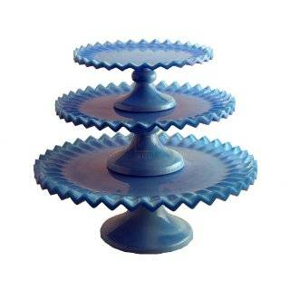 Blue Hobnail Cake Stand