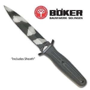 Boker Applegate Combat Knife Urban Camo: Sports & Outdoors