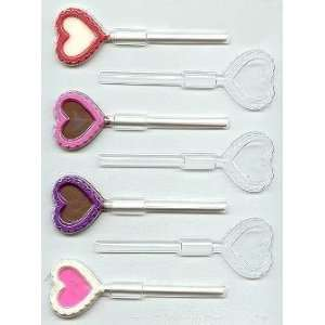 Small Fancy Hearts Pop Candy Mold