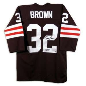 Jim Brown Cleveland Browns Autographed Jersey with HOF