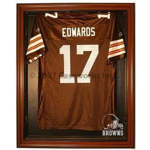 Cleveland Browns Cabinet Style Jersey Display Case   Brown