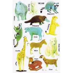 World Wild Animal Kid Clip Art Decal Scrapbook Sticker