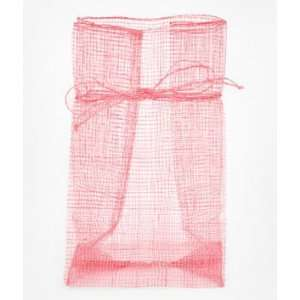 4 x 7 x 3 Pink Sinamay Favor Bags 12 Pack Fabric: Everything Else