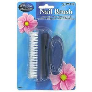 24 Packs of 2 Assorted Color Nail Brushes