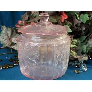 Pink Mayfair Glass Cookie Jar Kitchen & Dining