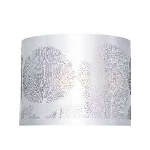 Polished Chrome Finish 1 Lt Wall Laser Cut Coral Trees