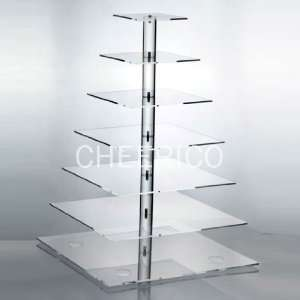 Square Pole Wedding Acrylic Cupcake Stand Tree Tower Cup Cake Display