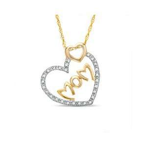 Gold Plated Sterling Silver 1/10 CT. T.W. SS/DIAMOND PENDANTS Jewelry