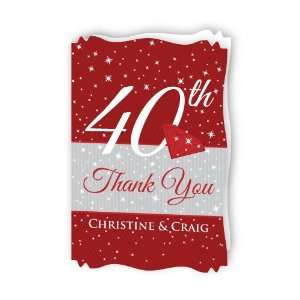 40th Anniversary Personalized Wedding Anniversary Thank You Cards