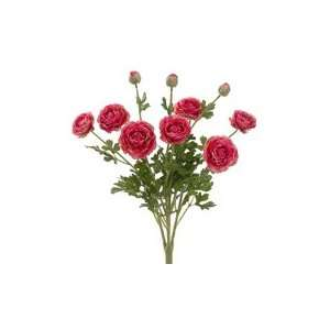 19 Silk Ranunculus Flower Bush  Rose (case of 6)