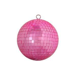 Bubblegum Pink Mirrored Glass Disco Ball Christmas Ornament 6 (150mm