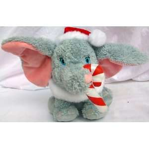 8 Plush Disney Dumbo Elephant in Santa Christmas Hat and Candy