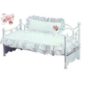 Item Bundle: Sophias Doll Accessories  White 18 Doll Bed + Bedding