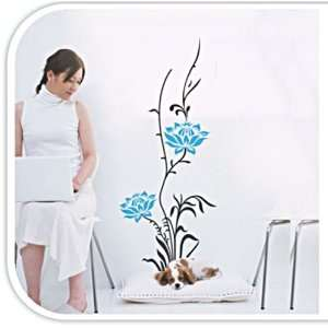 Flower Vine Easy Wall Sticker Decal   Flower Vine   Wall Deco Home D