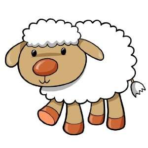 Childrens Wall Decals   Cartoon Baby Lamb   24 inch