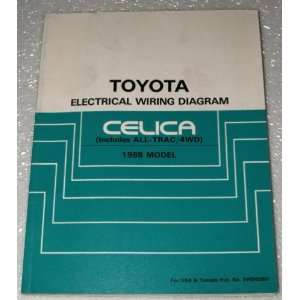 1988 Celica (Includes All Trac/4WD) Electrical Wiring Diagram Books