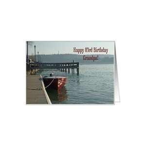 Fishing Boat Grandpa 83rd Birthday Card Card