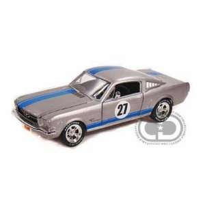1965 Ford Mustang Fastback 1/24 Silver #27 Toys & Games