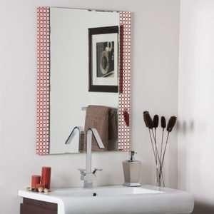 Geometric Squares Bronze Frameless Wall Mirror