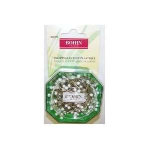 White Color Ball Head Pin Size 28   1 1/2in 250ct (5 Pack