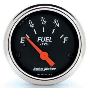 Auto Meter 1424 Designer Black 2 1/16 Chrome Bezel Fuel