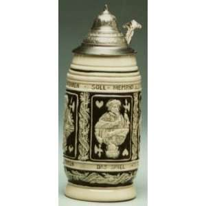 Card Player German LE Beer Stein 3/4 L Home & Kitchen