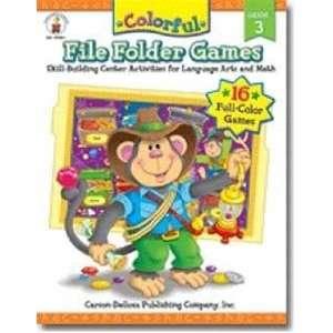 Carson Dellosa Colorful File Folder Games   Grade 3