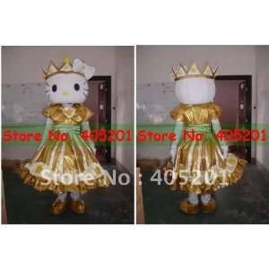 gold dress hello kitty costume for party Toys & Games