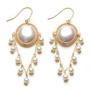 Gold Plated Sterling Silver and Pink Freshwater Coin Pearl