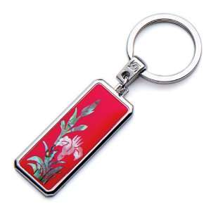 Moer of Pearl Red Orchid Flower Design Handmade Craft