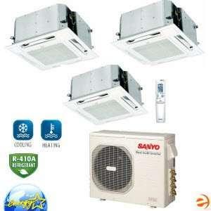 XMHS0972 Ceiling Recessed Tri Zone Heat Pump   30