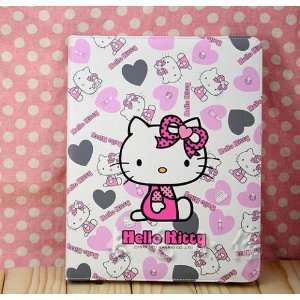 Hello Kitty Leather Case Stand for Apple iPad2 Little Heart Computers
