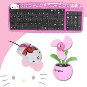 Hello Kitty USB Optical Mouse #81309 + Hello Kitty USB Desktop Fan